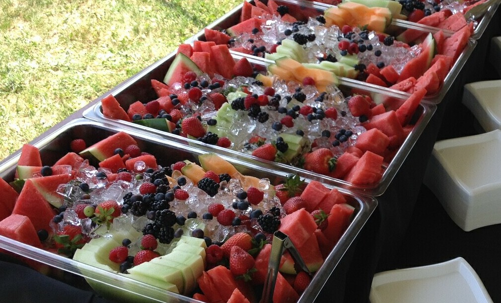 Whole Fresh Fruit Display - Available At No Extra Charge With All Outdoor Packages